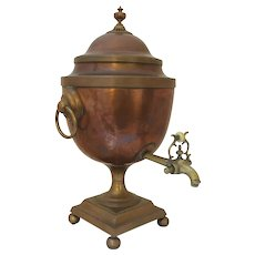 Early 19th Century English Tea Urn, Copper & Brass
