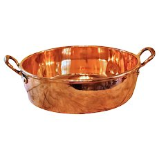 An English Copper Jam Pan