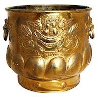c. 1880 Brass Jardinere