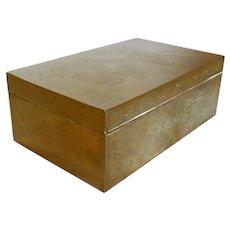 Chinese Engraved Brass Cigar Box