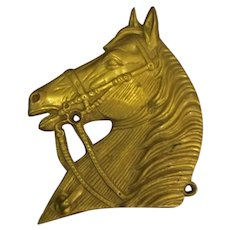 Brass Horse's Head with Hook