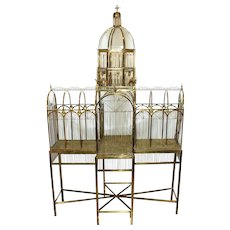 Rare John Buford Monumental Bird Cage, Late 20th Century