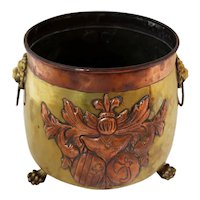 Mid 19th Century Small Copper & Brass Jardinere
