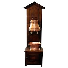 Country French Lavabo with stand, late 19th century