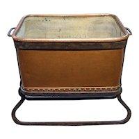 c. 1860 English Copper Trough in Iron Stand