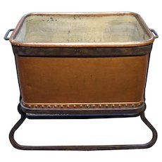 c. 1860 English Copper Trough in Iron Stand