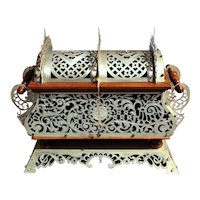 Late 19th Century Byzantine Style Silvered Metal Jewelry Casket
