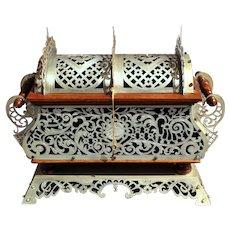 Late 19th Century Byzantine Style Silvered Metal Jewelry Casket