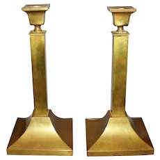 Late 19th Century Anglo-American Brass Candlesticks - A Pair