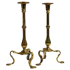 A Pair of Queen Anne Style Candlesticks