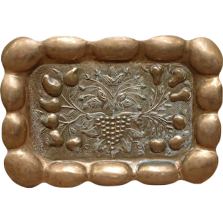 Late 19th Century Anglo-Indian Hand Raised Copper Panel or Tray of Still Life
