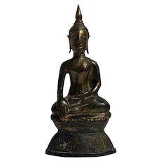 Late 19th Century Thai Bronze Buddha