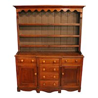 Mid-19th Century English Pine Pewter Cupboard or Dresser