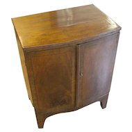 George III Mahogany Bowfront Cabinet