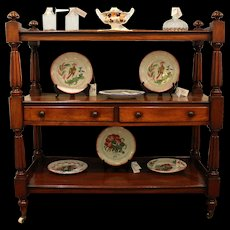William IV Mahogany Butler's Etagere