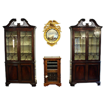 19th Century Chippendale Cabinets