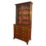 George III Bookcase Secretaire