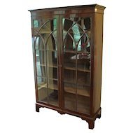 Fine English Mahogany Bookcase, Georgian
