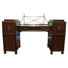 Double Pedestal Sideboard with Lion Mask Handles