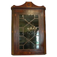 English Mahogany Hanging Corner Cabinet