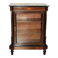 Mid 19th Century French Boxwood Cabinet with Glass Door