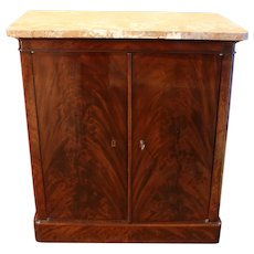 Early 19th Century French Charles X Period Marble Top Cabinet