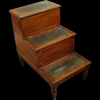 Set of Mahogany George III Bed Steps