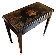 French Painted Games Table