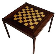 Mid-Century Modern Fliptop Rosewood Games Table