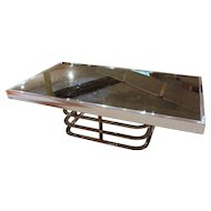 Art Moderne Chrome Coffee Table