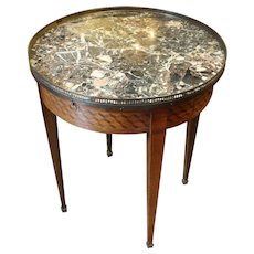 Bouillotte Table Louis XVI Style