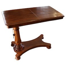 C. 1840 English Mahogany Reading Table