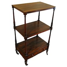 Enlish Regency Rosewood Etagere