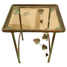 French Copper Garden Table