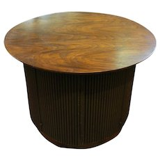 A smart circular side cabinet table
