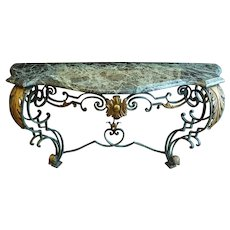 Rococo Console with Marble Top
