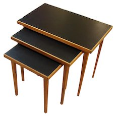 Mid-Century Modern Set of 3 Nesting Tables