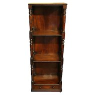 English Mahogany What-Not-Stand Bookcase