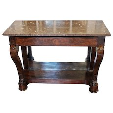 French Louis Philippe Marble Top Console
