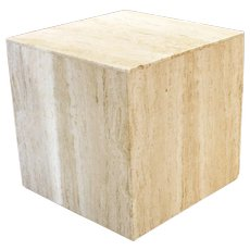 Travertine Marble Cube Table