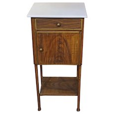 Late 19th Century French Tole Bedside Table