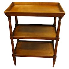 Country French 3-Tier Galleried Table
