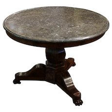 French Center Table with Marble Top