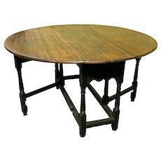 English Oval Gateleg Table
