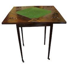 English Mahogany Envelope Games Table