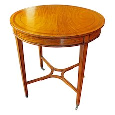 English Satinwood Center Table