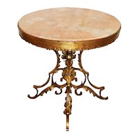 Late 19th Century French Marble & Gilt Center Table