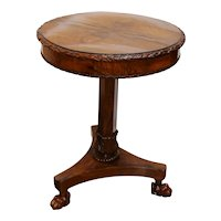 Late 19th Century French Walnut Gueridon Table