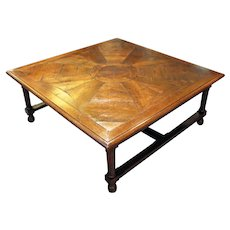 18th Century Chestnut Parquet Top Coffee Table