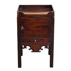 George III Tray Top Commode Table